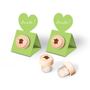 Custom Wine Cork Stopper with Heart Pop-up Card - Countries Design
