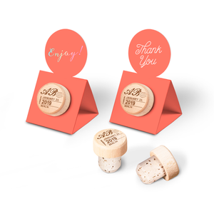 Custom Wine Cork Stopper with Circle Pop-up Card - Post Design