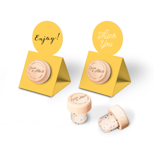Custom Wine Cork Stopper with Circle Pop-up Card - Spike Design