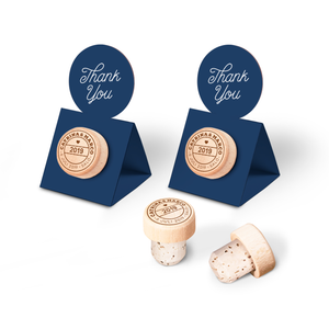 Custom Wine Cork Stopper with Circle Pop-up Card - Passport Design