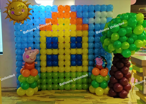 Peppa Pig Themed Backdrop
