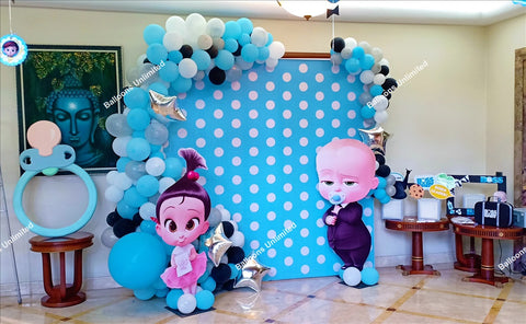 Boss Baby Themed Backdrop