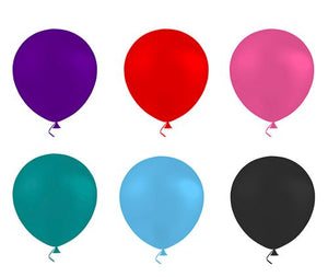 "9"" Plain Colored Balloons pack of 10"
