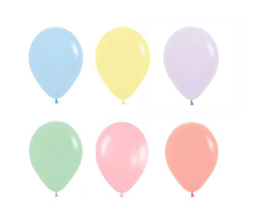 "9"" Pastel colour Balloons pack of 10"