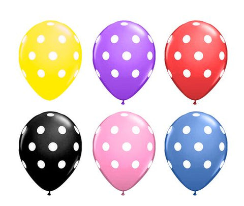 "11""Polka Balloons pack of 10"