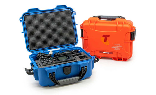 Small Nanuk Hard Cases in Blue and Orange
