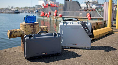 Nanuk 935 with other Nanuk cases at a port