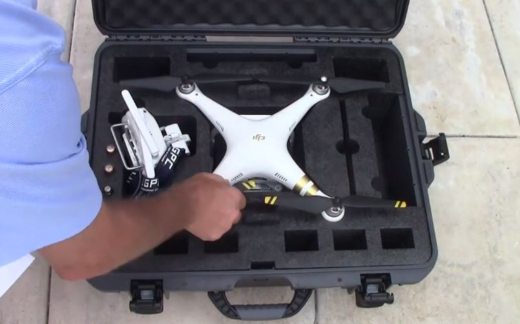 Nanuk 945 Hard Case for the Phantom 3 Intertior Foam