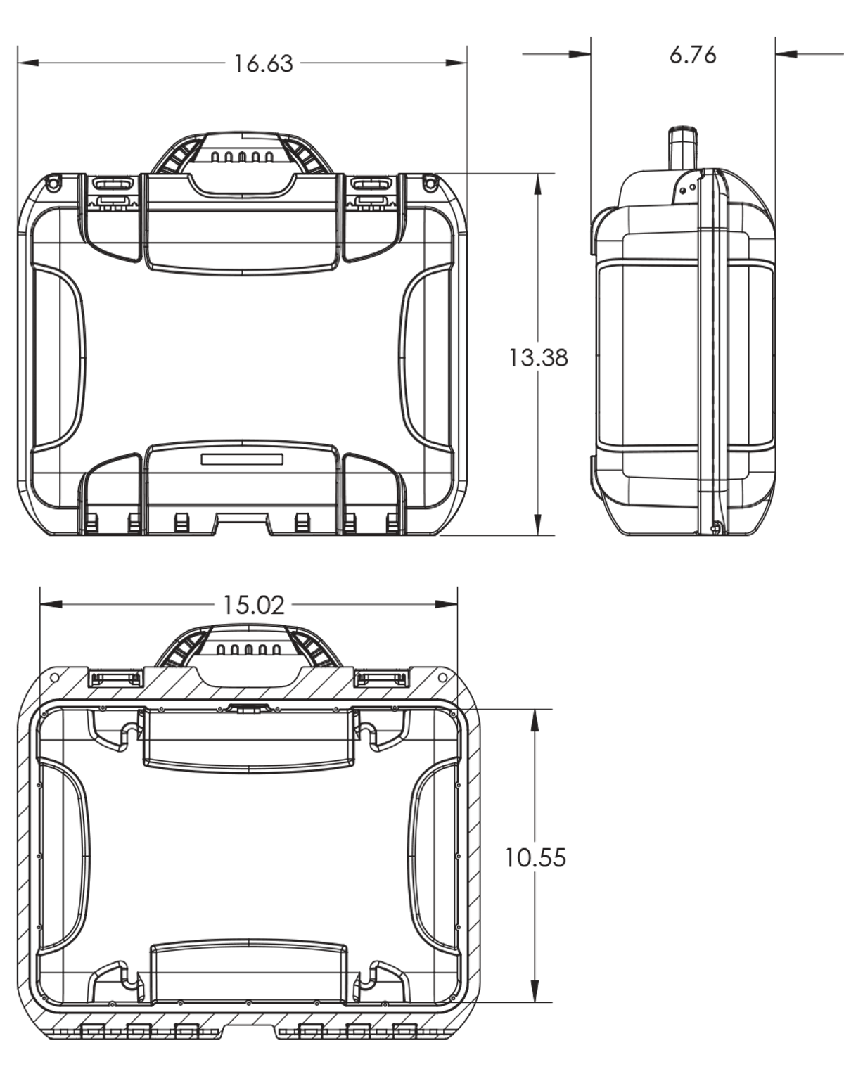 Dimensions of the Nanuk 920 DJI Mavic Pro Case Hard Case
