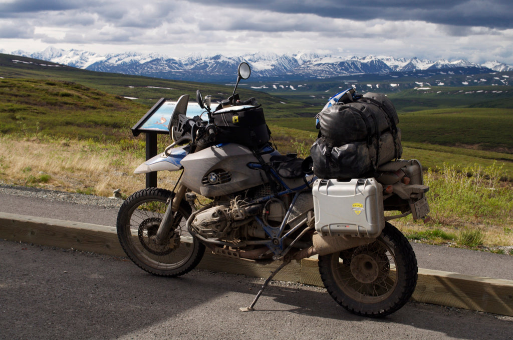 Nanuk Cases on Motorbike in Alaska