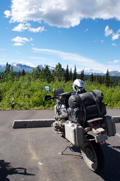 Guy Coallier's Motorcycle with Nanuk Cases in Alaska