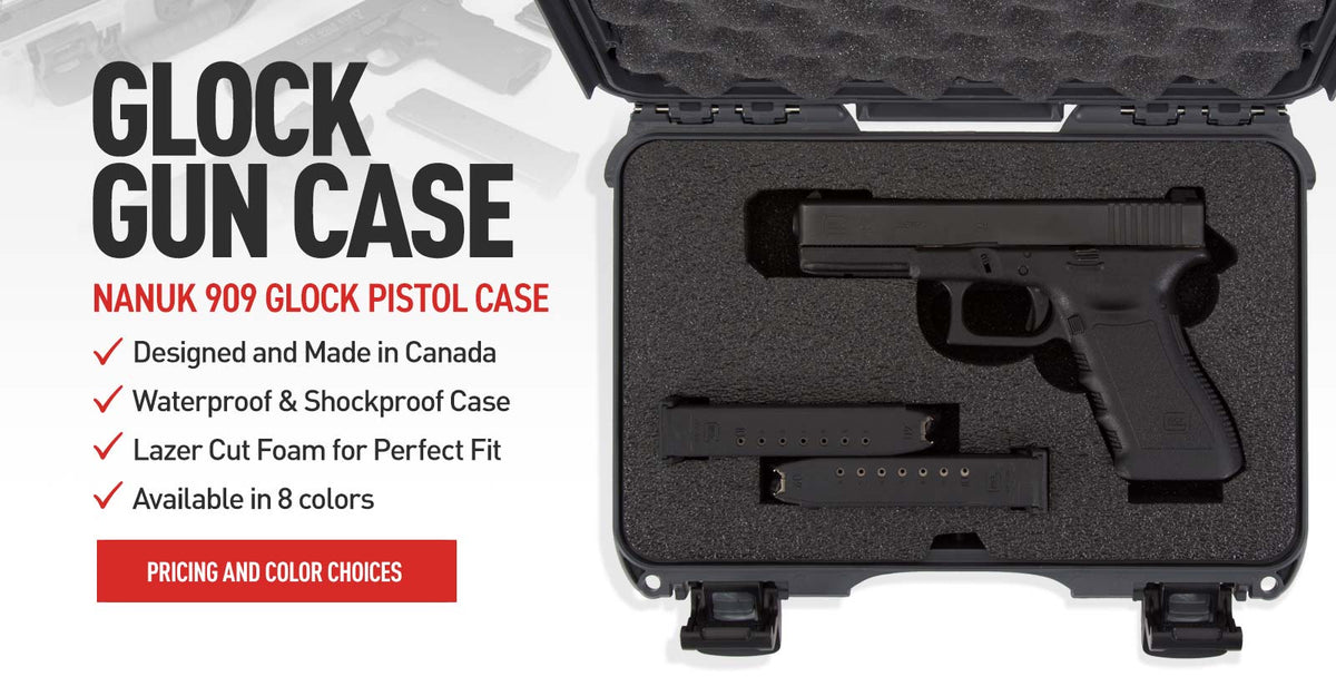 Nanuk 909 One Glock Gun Hard Case in Graphite