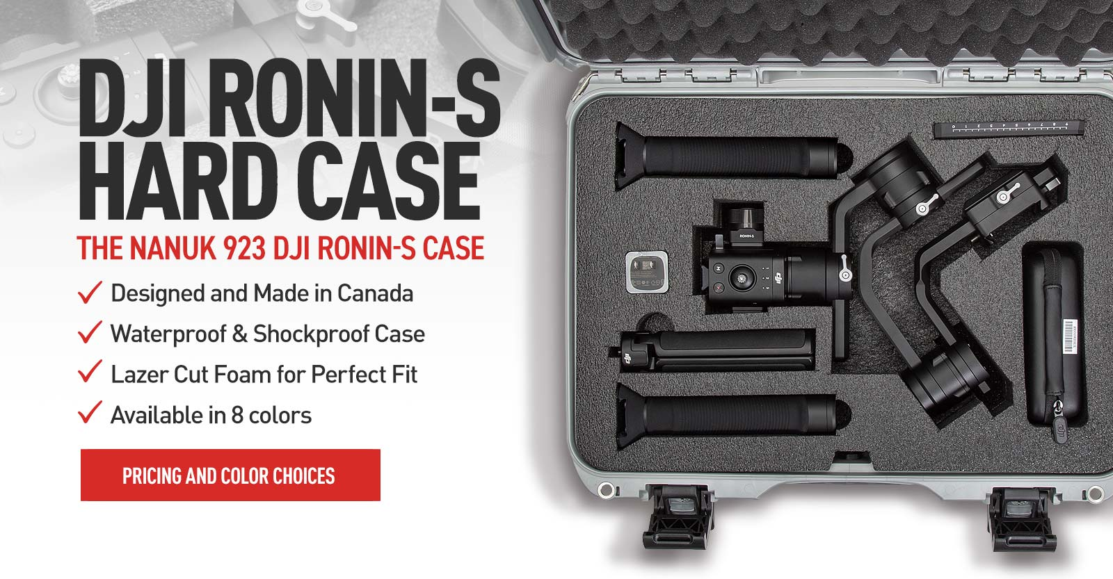 Nanuk 923 Hard Case for the DJI Ronin-S