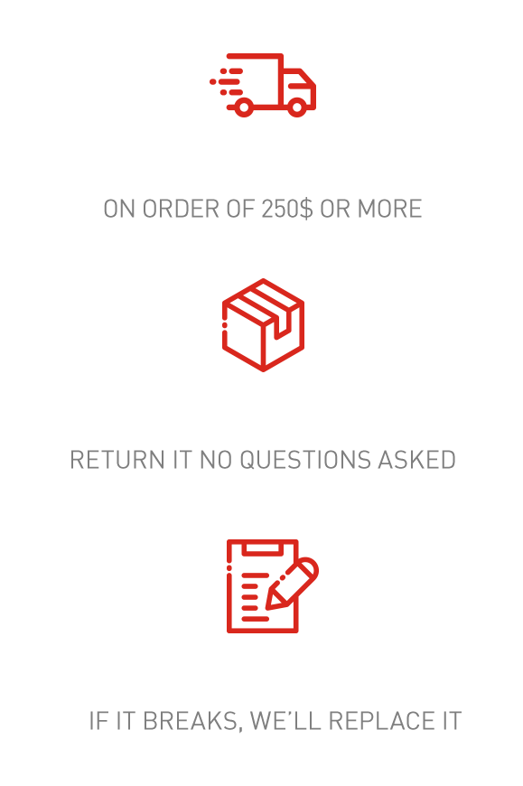 Free Shipping - Lifetime Warrant - Easy Returns