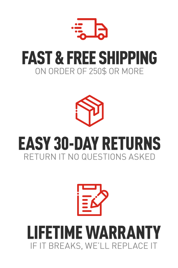 Free Shipping - Easy Returns - Lifetime Warranty
