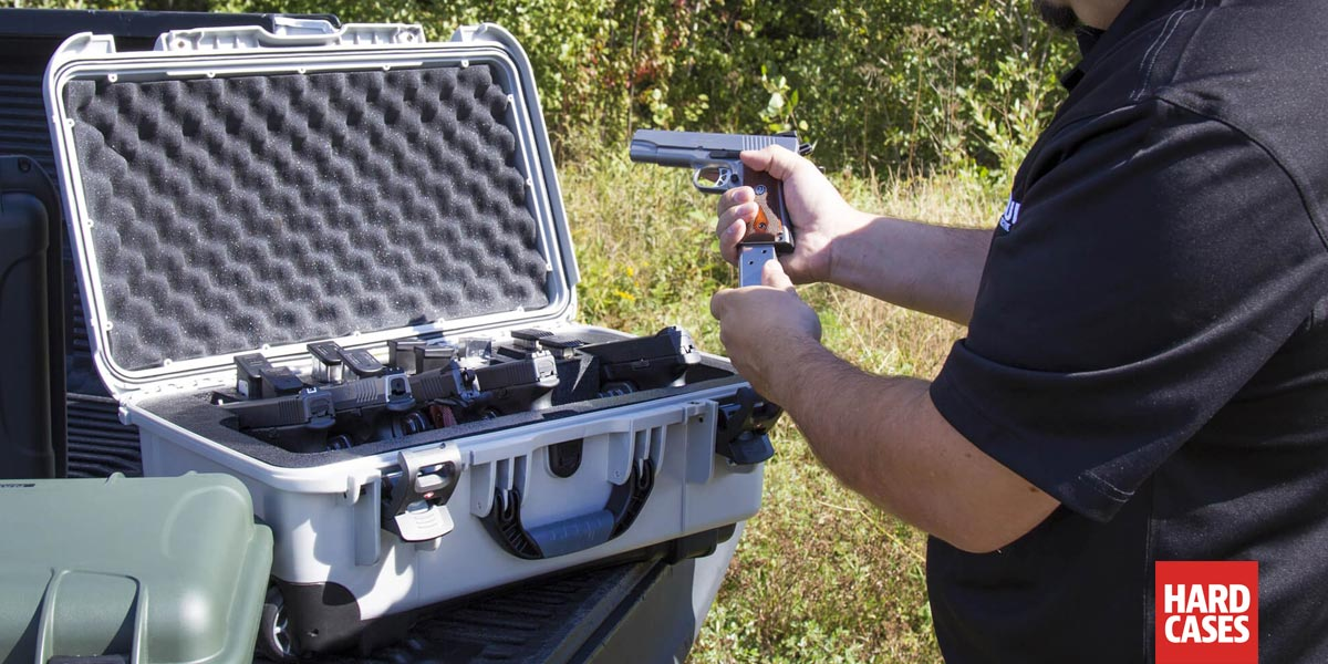The Perfect Hard Case with Wheels for your multiple handguns and pistols