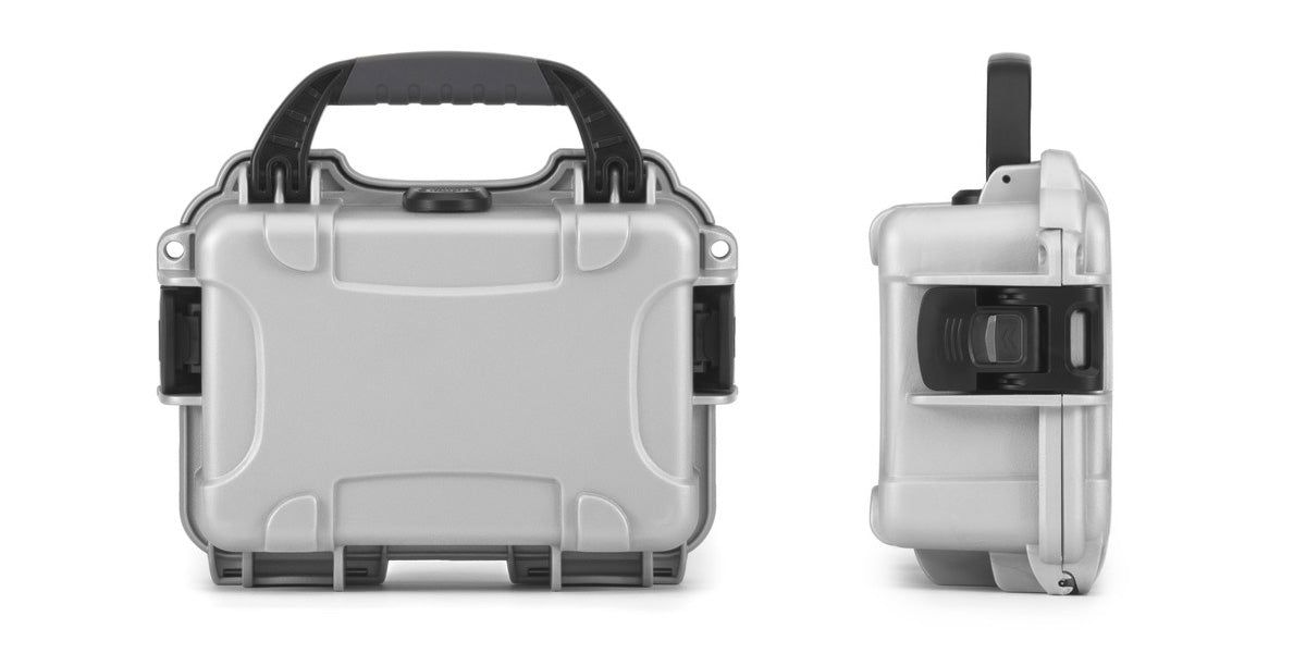 Front and side view of the Nanuk 903 in Silver