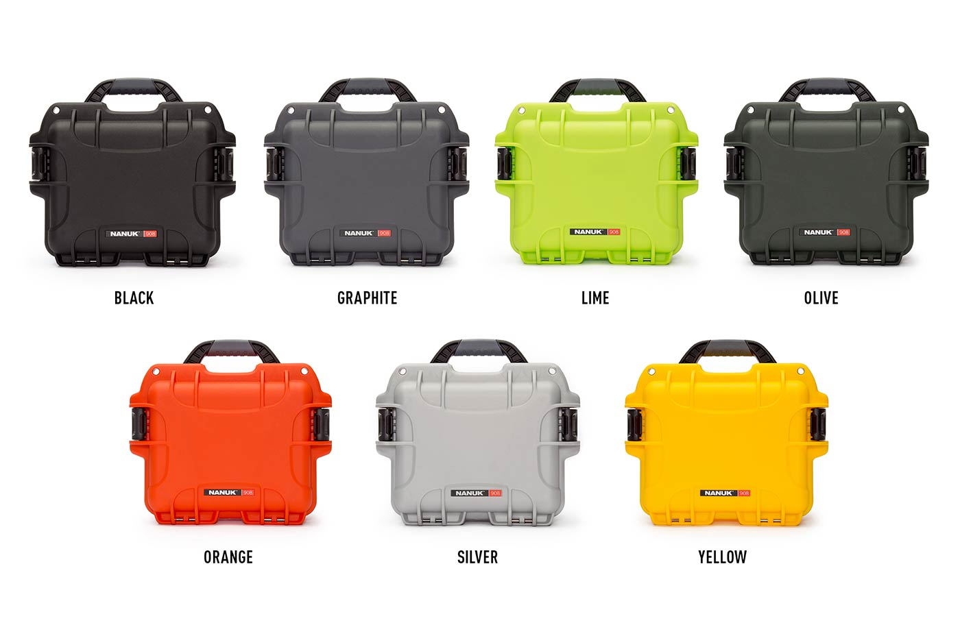 Nanuk 908 is available in 7 colors