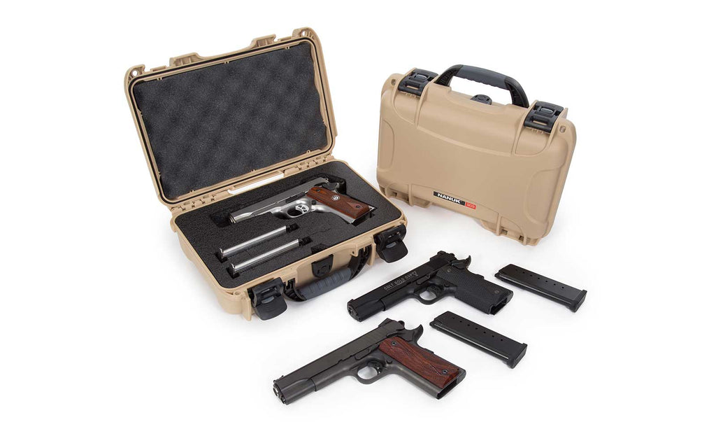 Nanuk 909 Single Gun Case in Tan
