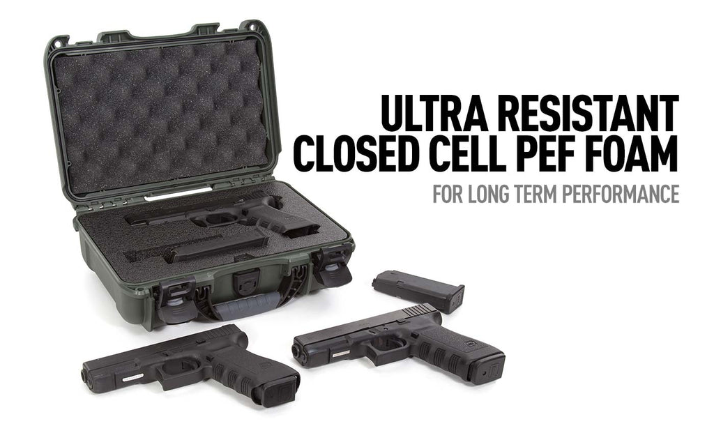 Ultra Resistant PEF Foam in the NAnuk 909 Glock Gun Case