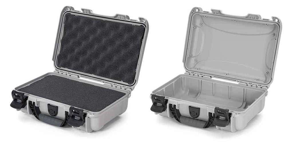 Nanuk 909 in Silver with Cubed Foam or Empty