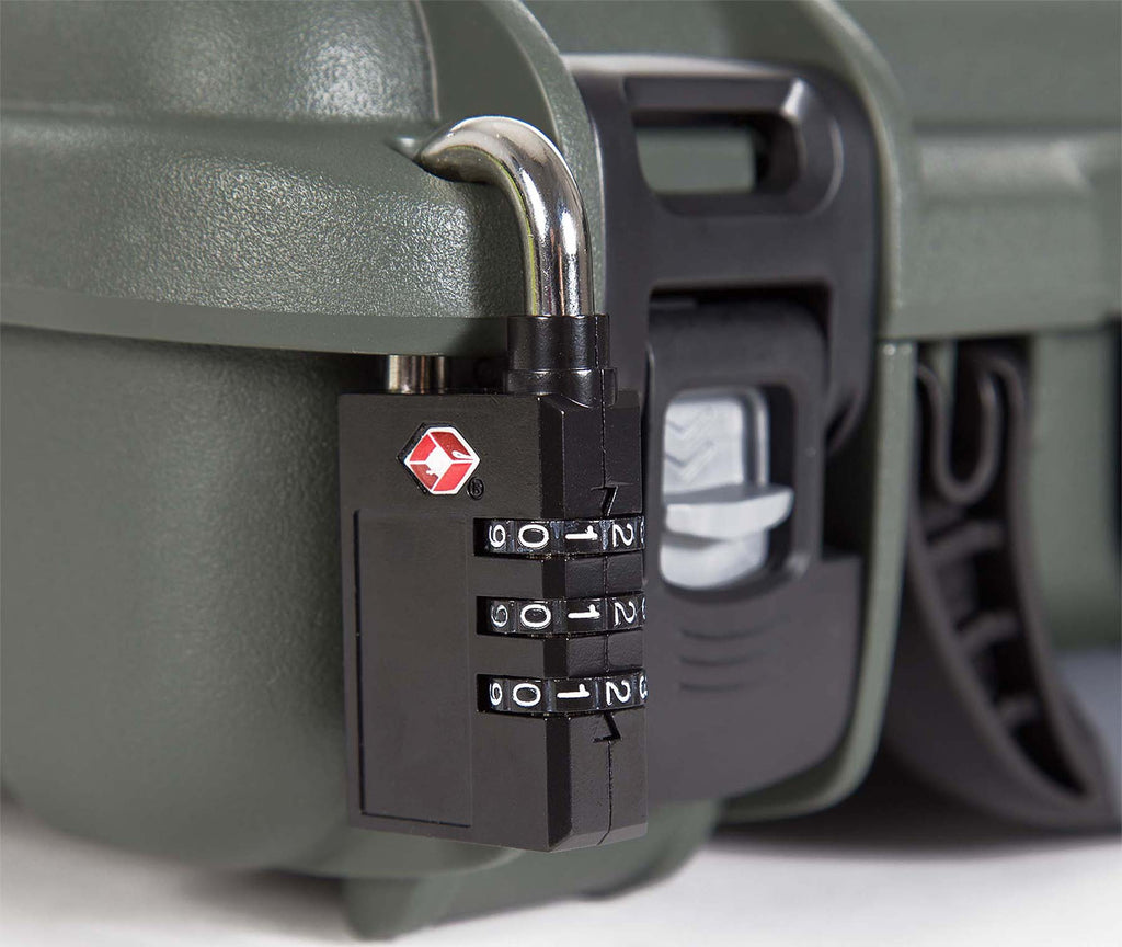 TSA Padlock on a Nanuk 910 2 UP Gun Case