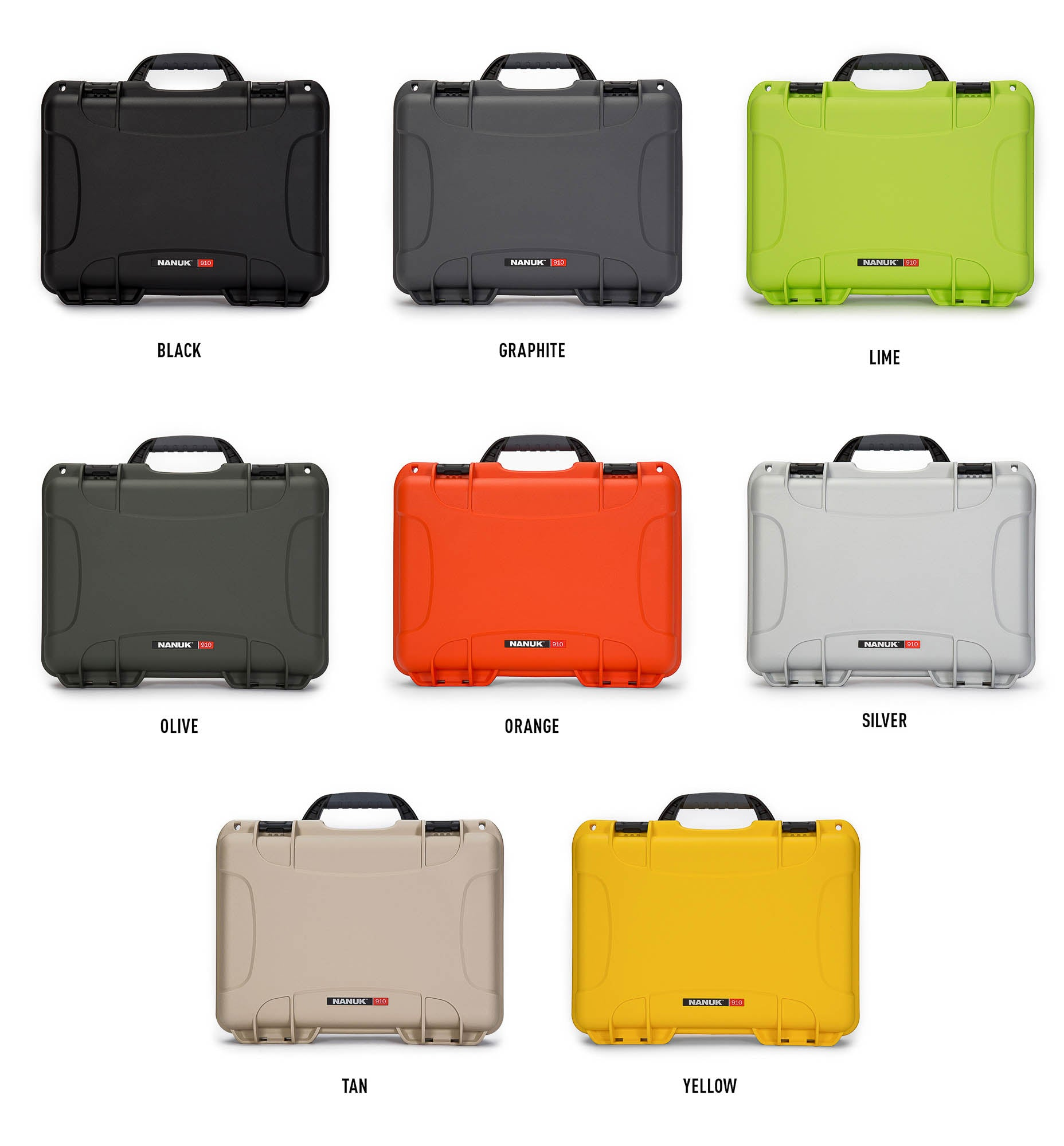 Nanuk 910 8 colors selection
