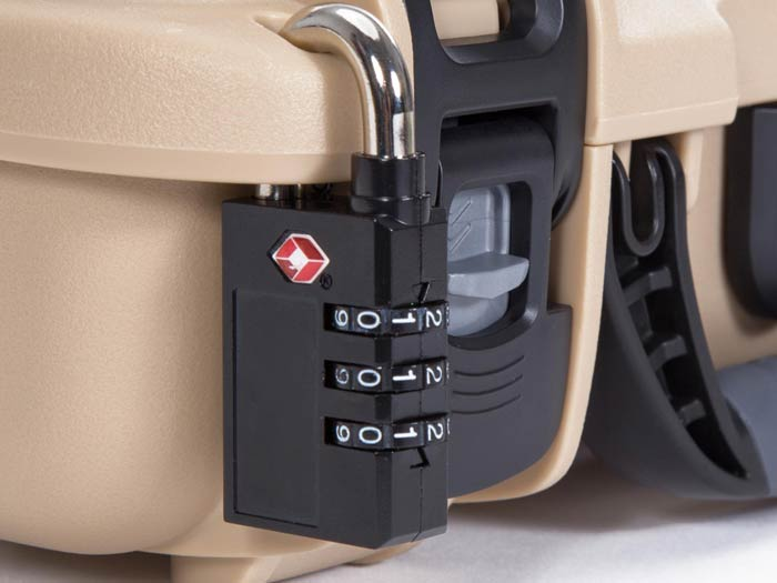 You can lock your Nanuj 910 2 Up Glock case using our TSA Padlock