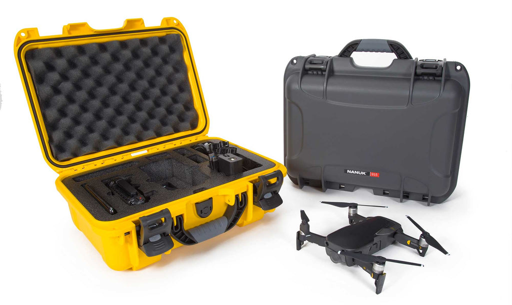 DJI Mavic Air Flymore Combo Hard Case in Yellow and Graphite