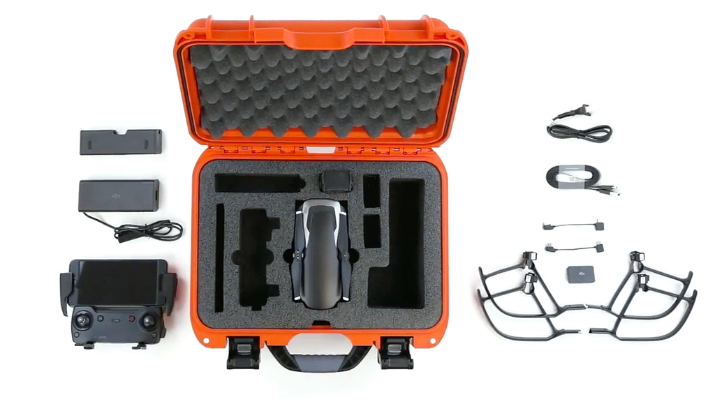Nanuk 915 Mavic Air Hard Case in Orange Viewed from the Top