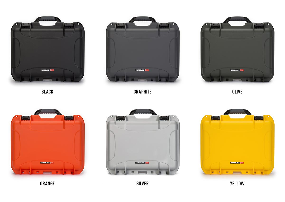 The Nanuk 920 is available in 6 colors