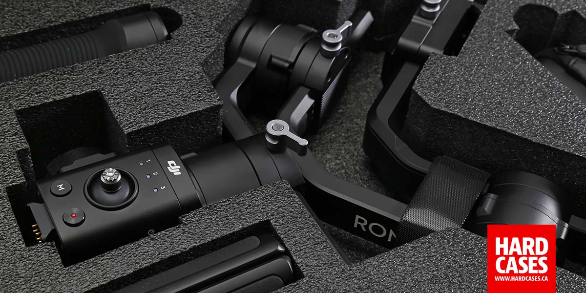 Detail shot of the Nanuk 923 HArd Foam for the DJI Ronin-S Gimbal