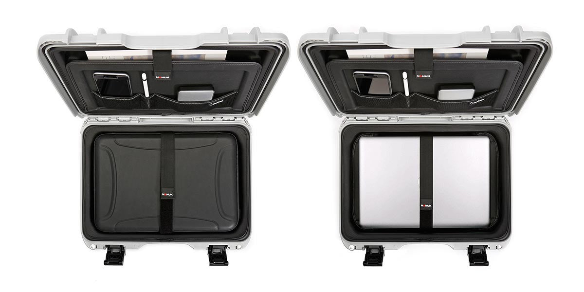 Nanuk 923 Laptop Cases viewed from the Top showing the Laptop Sleeve