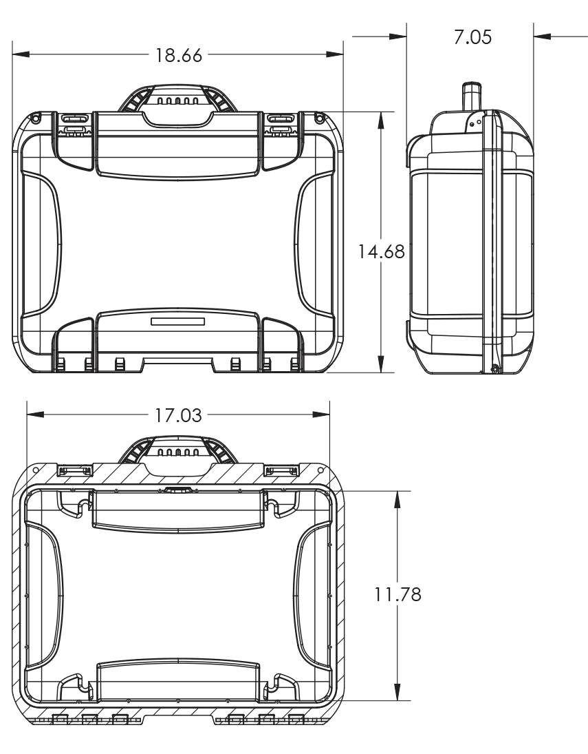 Dimensions of the Nanuk 925 Hard Case
