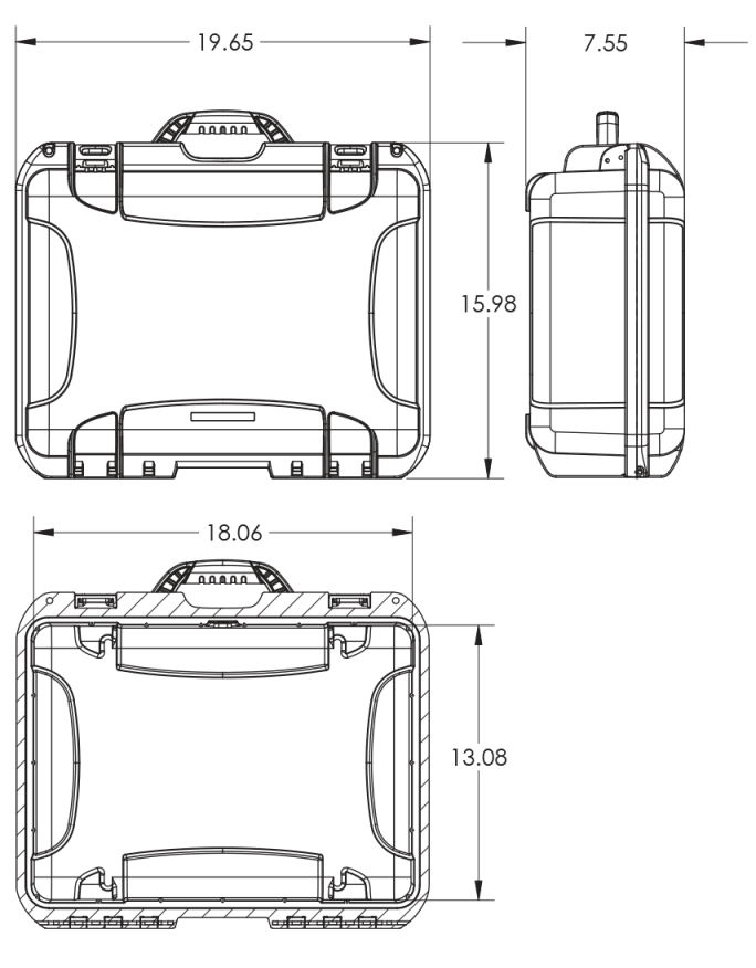 Dimensions of the Nanuk 930 Hard Case