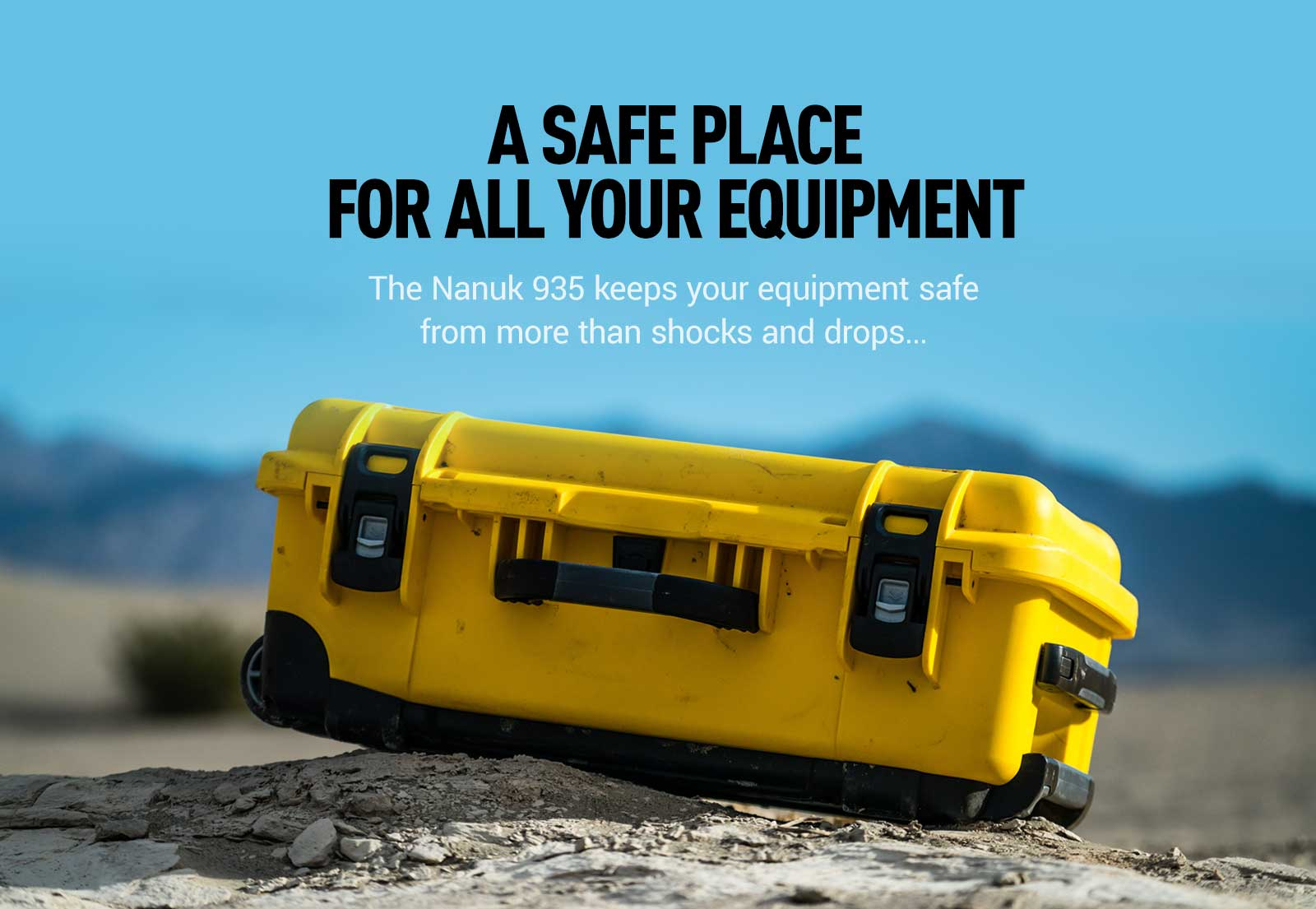 Nanuk 935 is a safe case for equipment