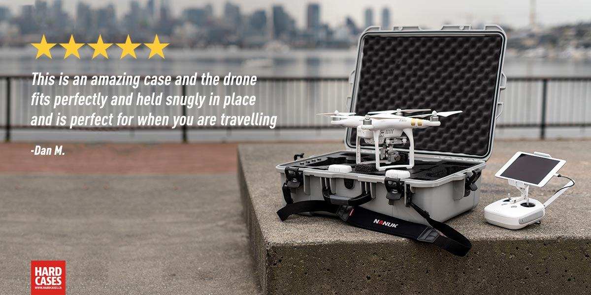 The Nanuk 945 for the Phantom 4 in Silver