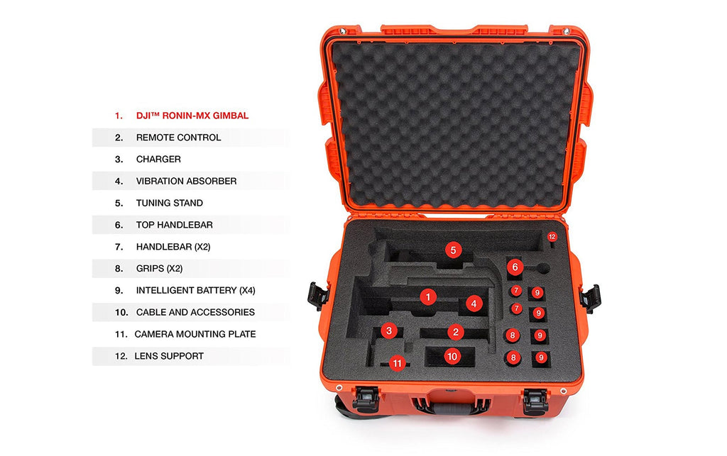 Nanuk 960 DJI Ronin-MX Hard Case Features