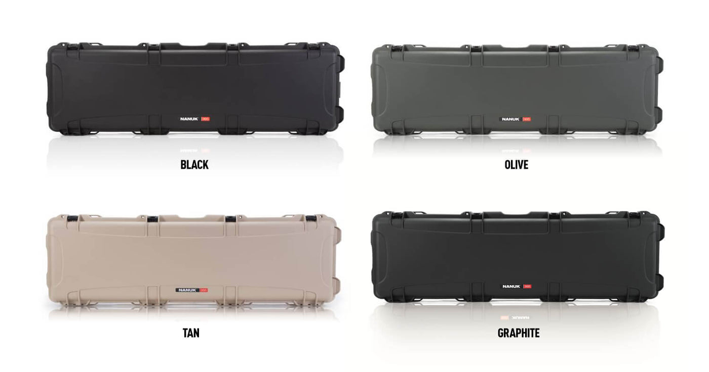 Nanuk 995 available in 4 different colors