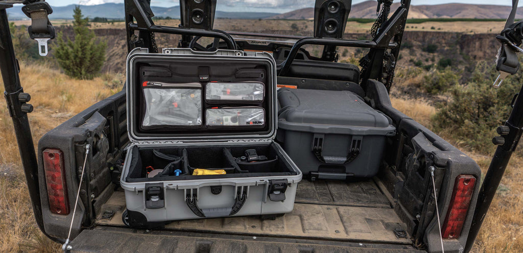 Nanuk 935 Lid Organizer in the back of a Truck