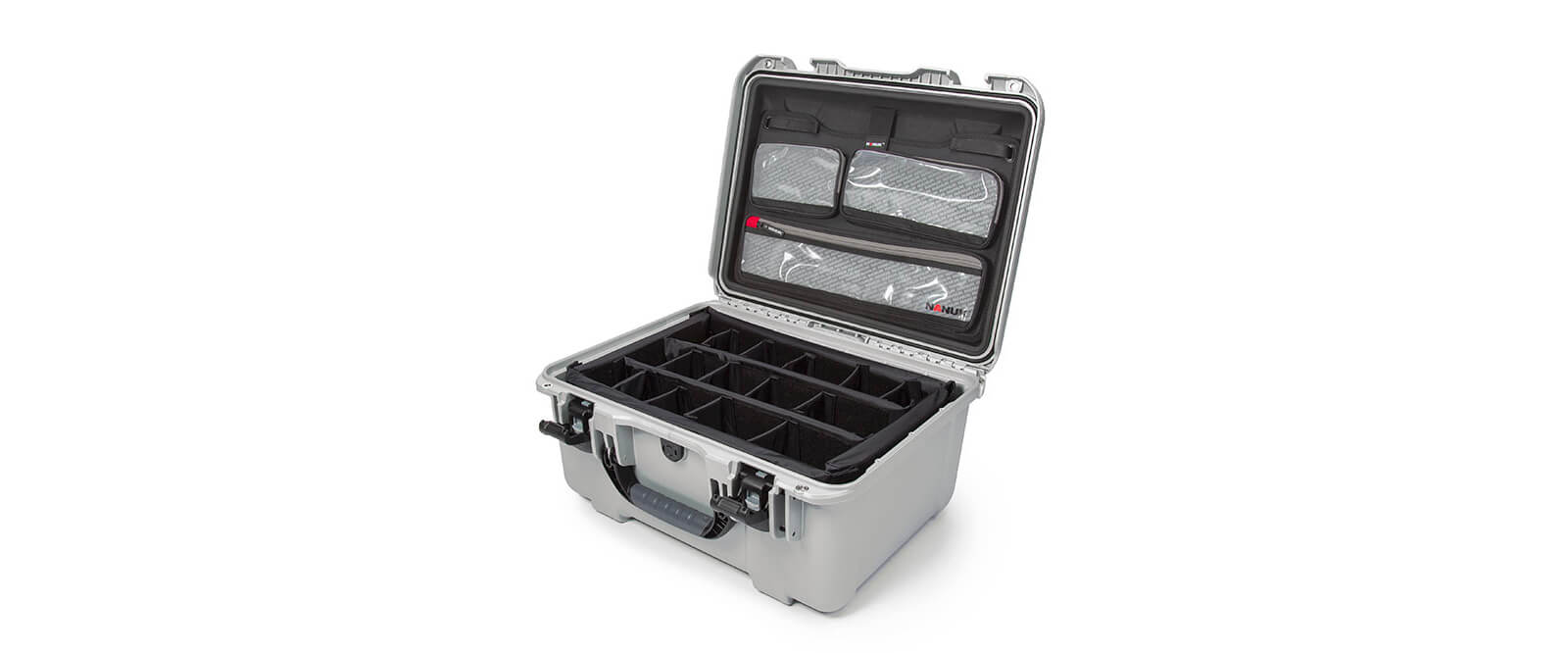 Nanuk 933 in Silver with Padded Dividers and Lid Organizer