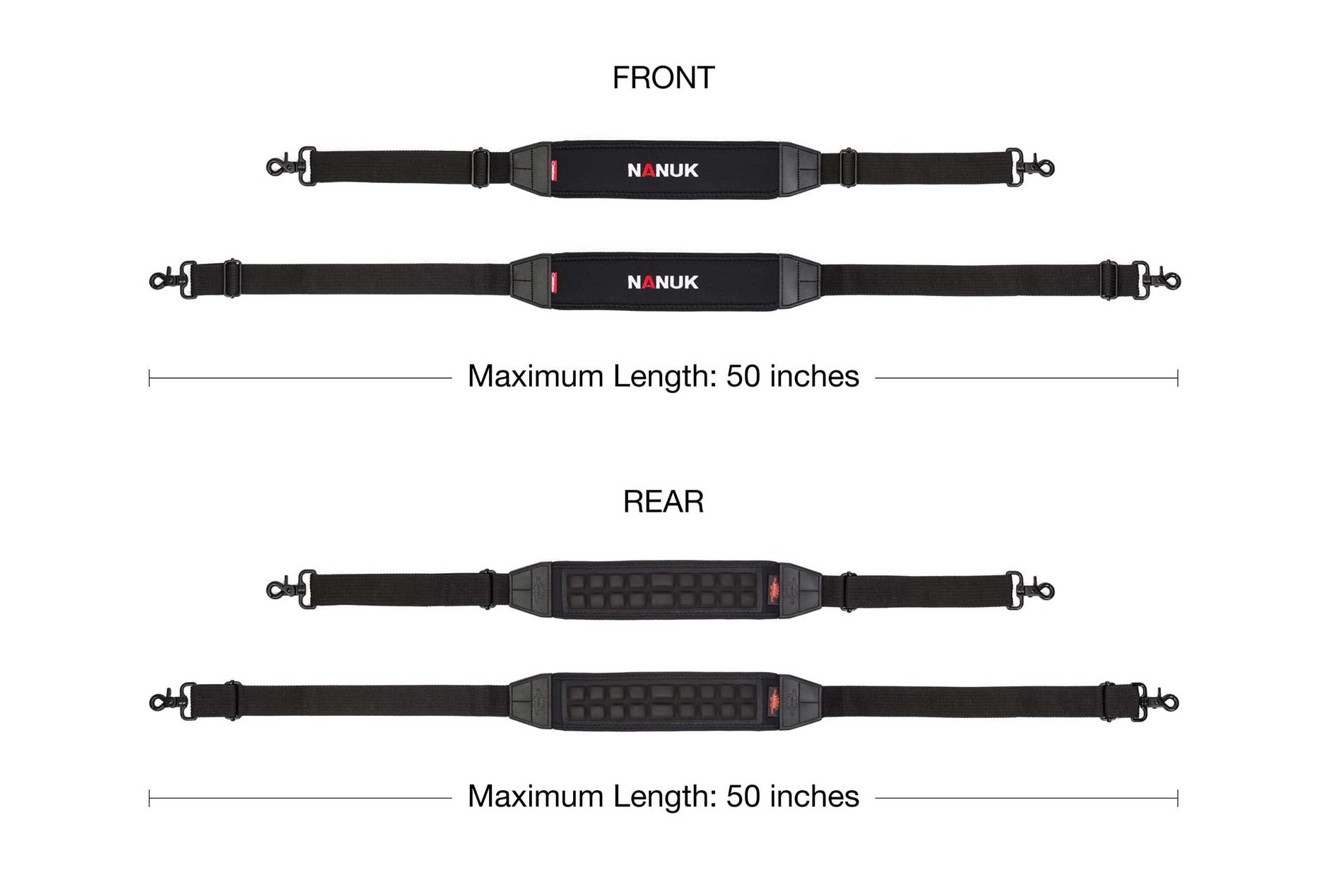 Dimensions of the Nanuk Shoulder Strap