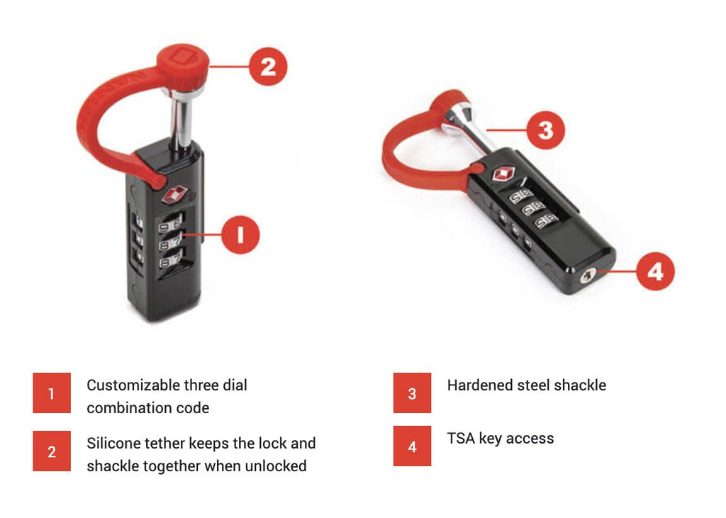 Features of the Nanuk TSA Approved Case Lock