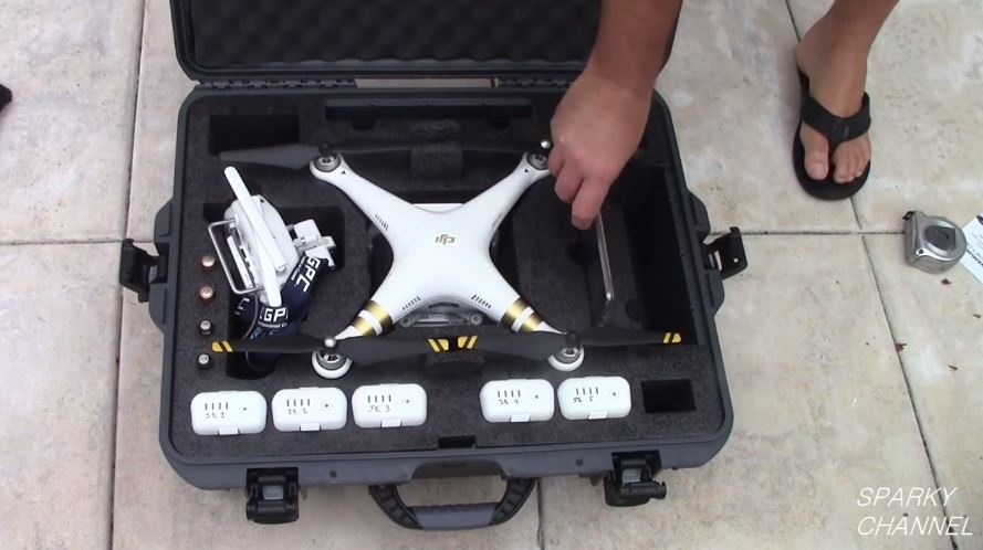 Nanuk 945 Hard Case for the Phantom 3 Quadcaptor Interior Foam