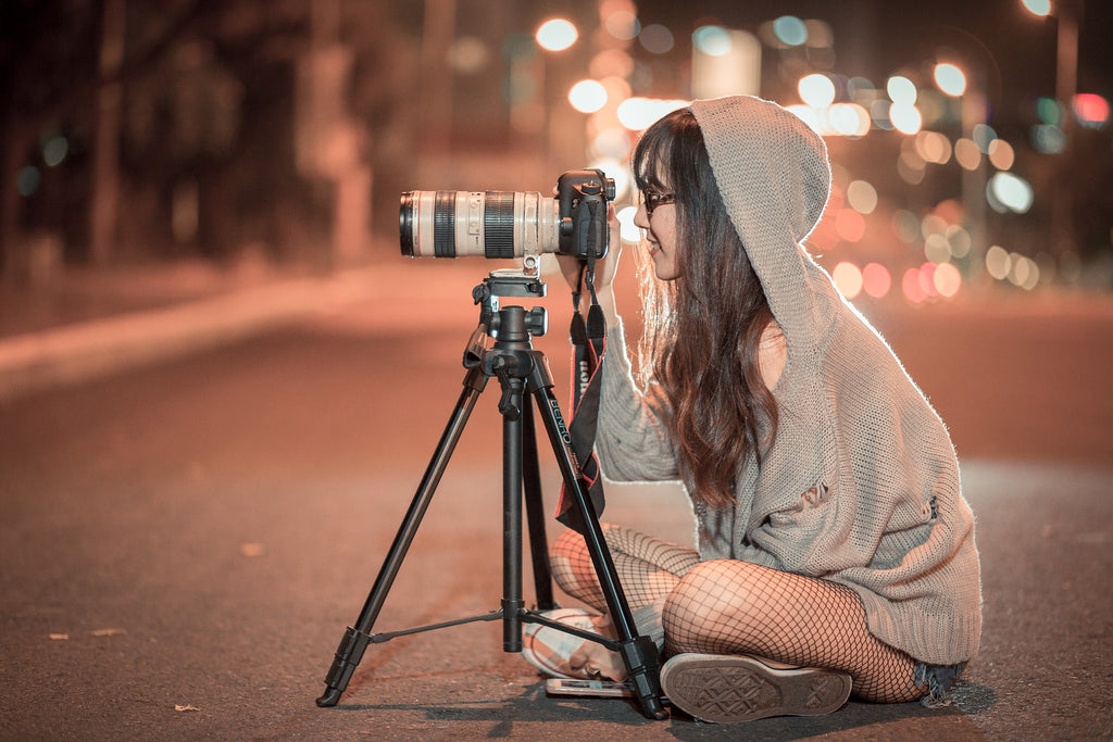 Photographer with Long Range Camera
