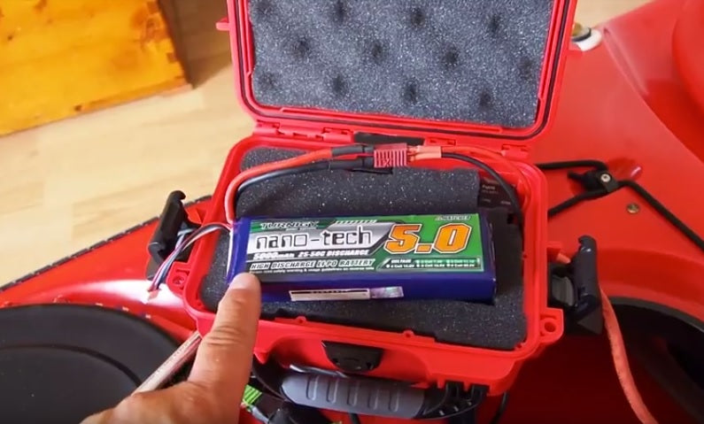 Nanuk 903 used as pump battery waterproof box
