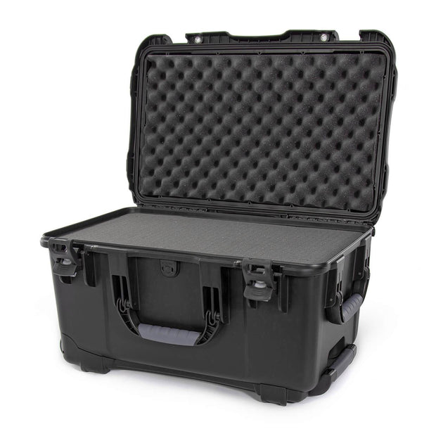 Nanuk 938 Hard Case in Black and Cubed Foam with Handle and Wheels