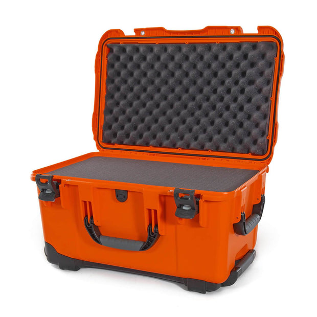 Nanuk 938 Hard Case in Orange and Cubed Foam with Handle and Wheels