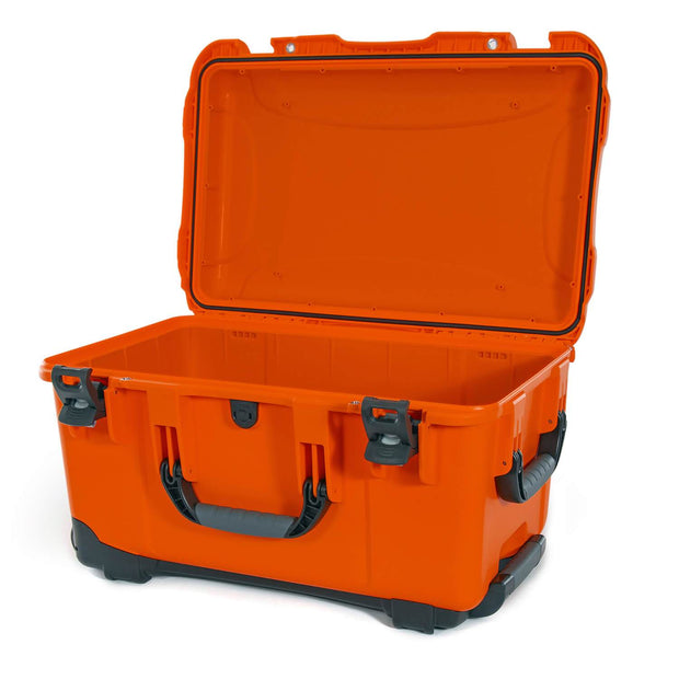 Nanuk 938 Hard Case in Orange Empty with Handle and Wheels