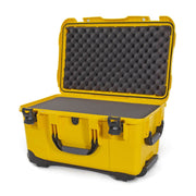 Nanuk 938 Hard Case in Yellow and Cubed Foam with Handle and Wheels